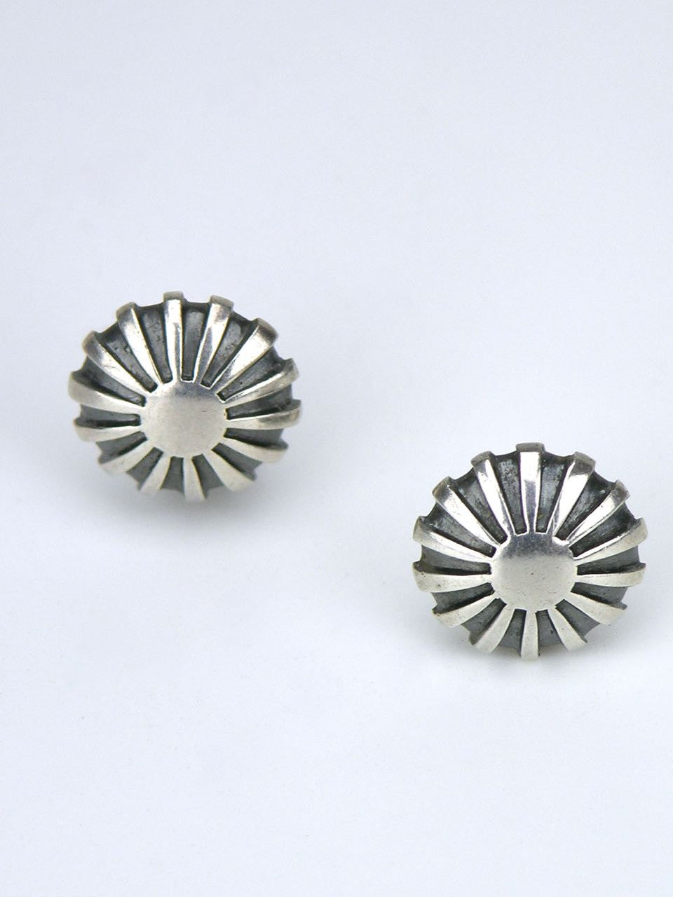 Just Andersen silver sunray clip earrings