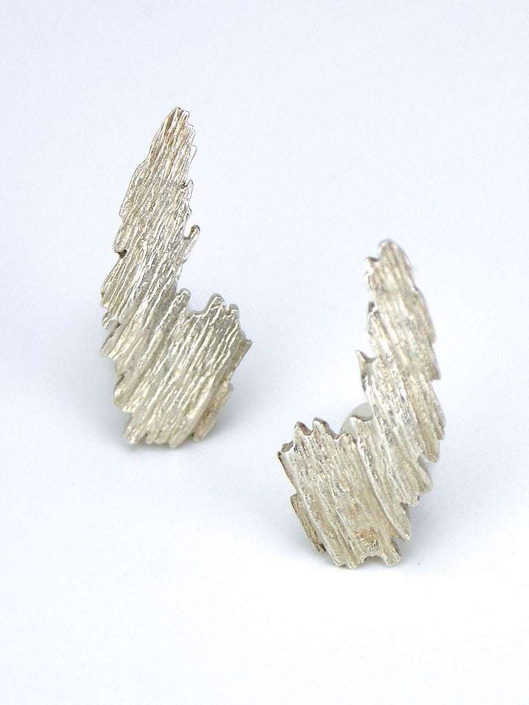 Anton Michelsen silver textured clip earrings