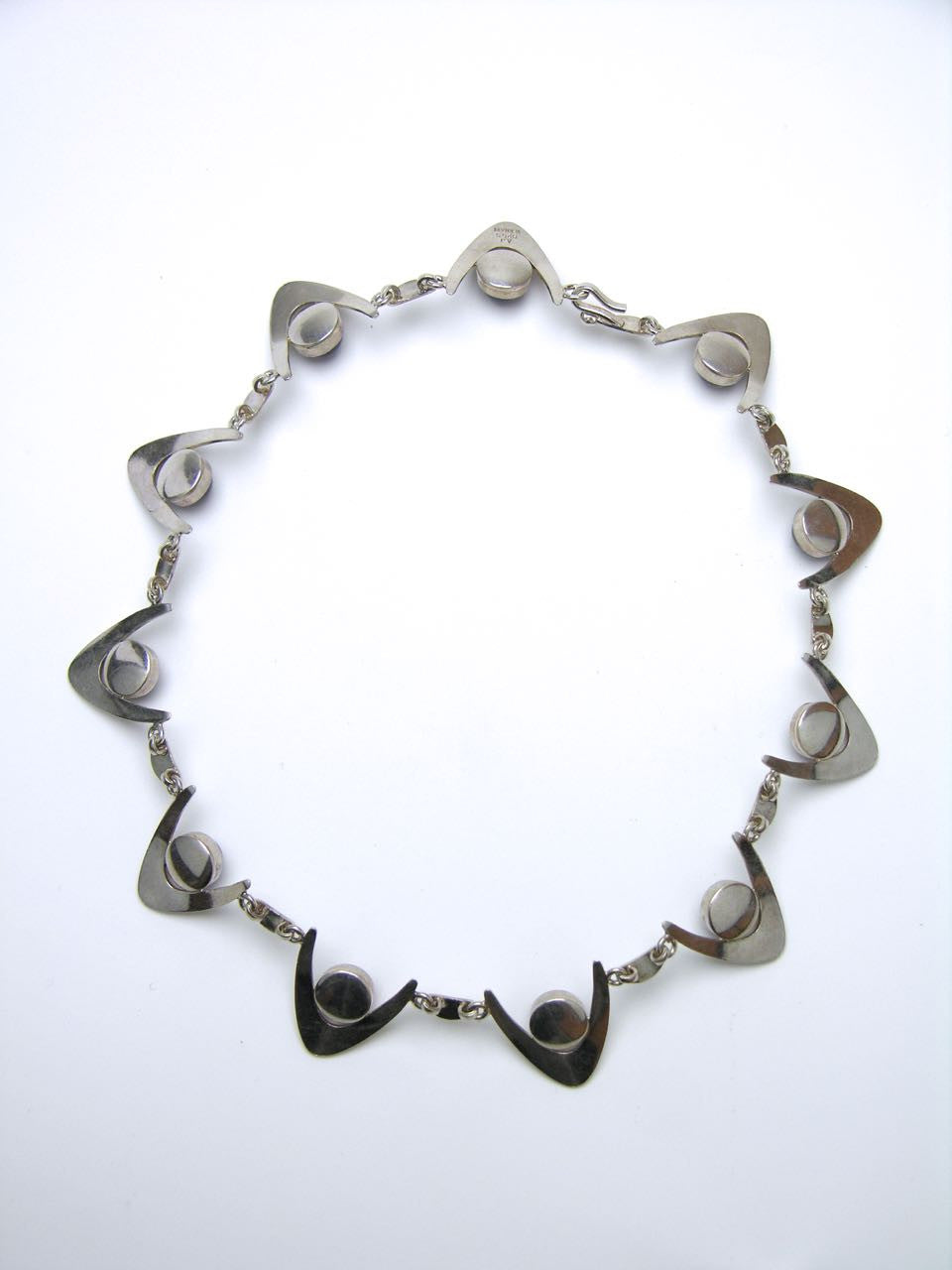 Arne Johansen silver and amethyst wishbone necklace