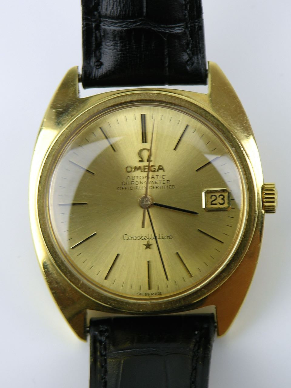 Omega Yellow Gold Constellation Automatic Wristwatch