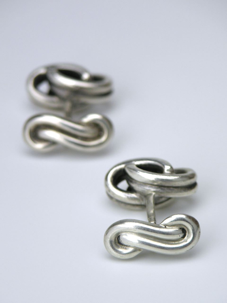German silver knot cufflinks