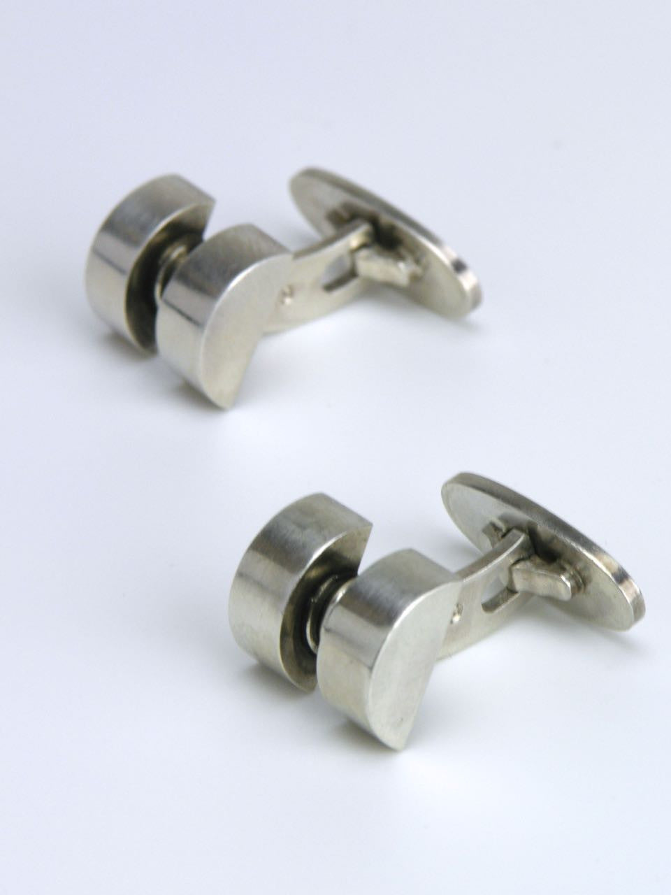 Georg Jensen silver segmented cufflinks - design 67