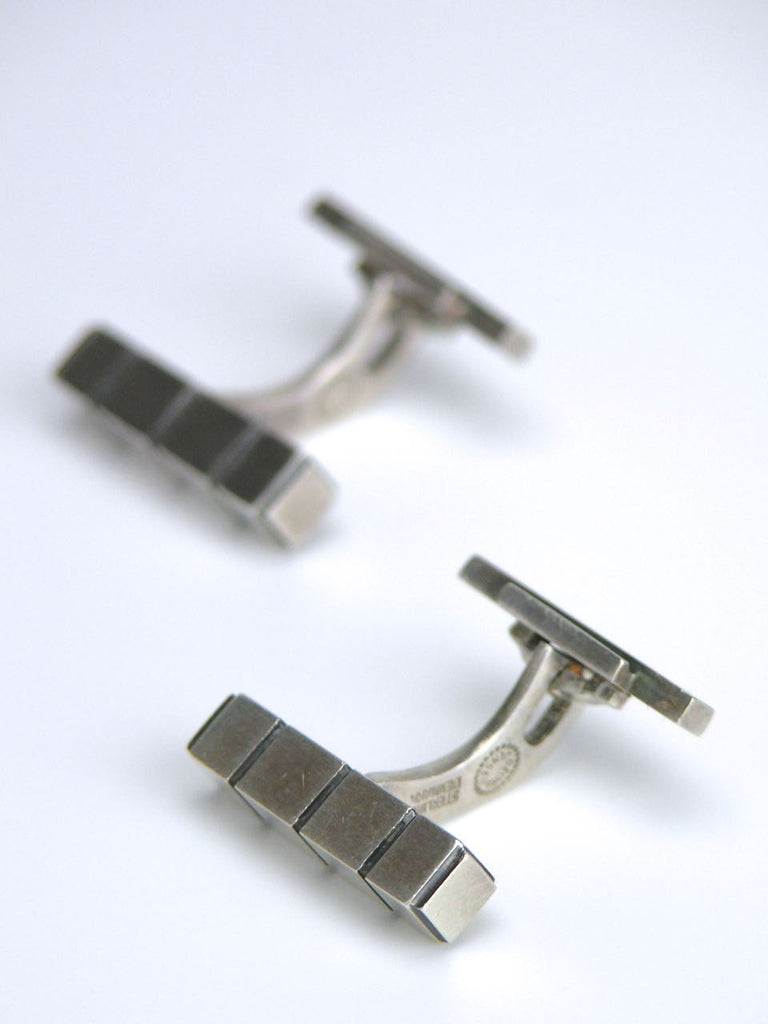 Georg Jensen silver rod cufflinks - design 64