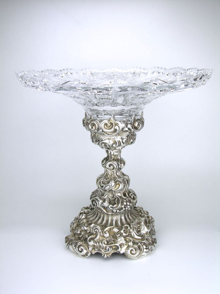 19th Century Austrian Continental Silver and Crystal Centrepiece