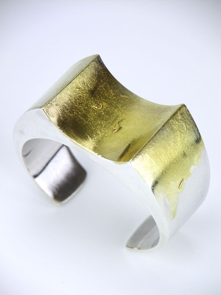 Vagn Hemmingsen silver and fire gilded cuff