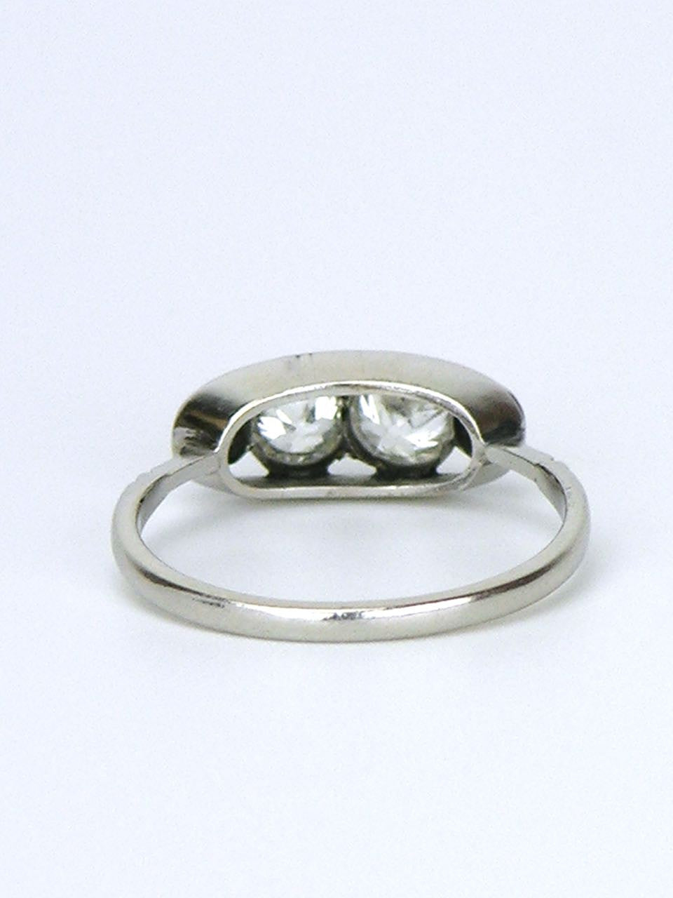 Platinum and diamond four stone ring