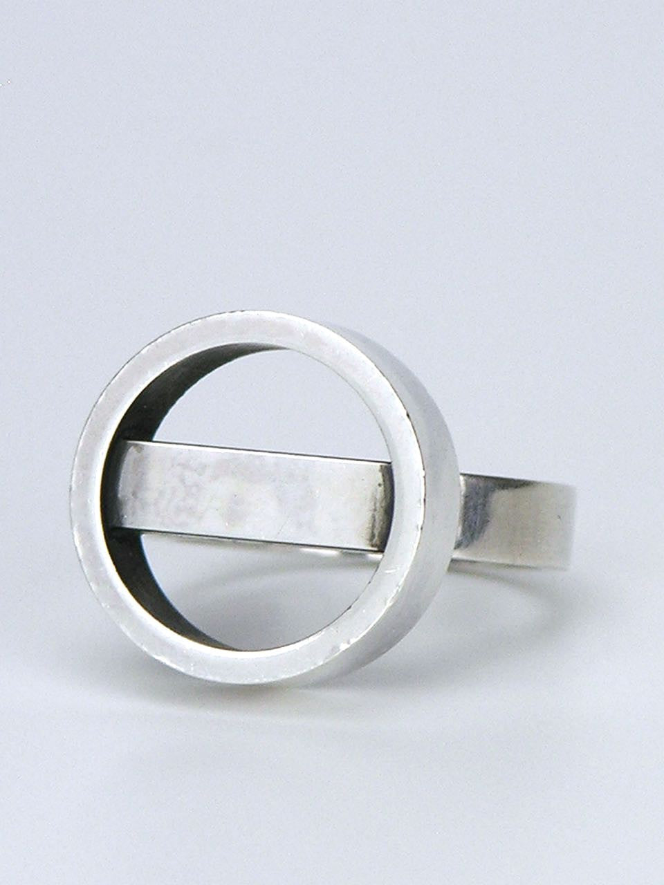 Georg Jensen silver hoop and bar ring - design 122