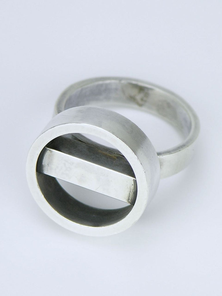 Vintage Georg Jensen silver hoop and bar ring - design 122