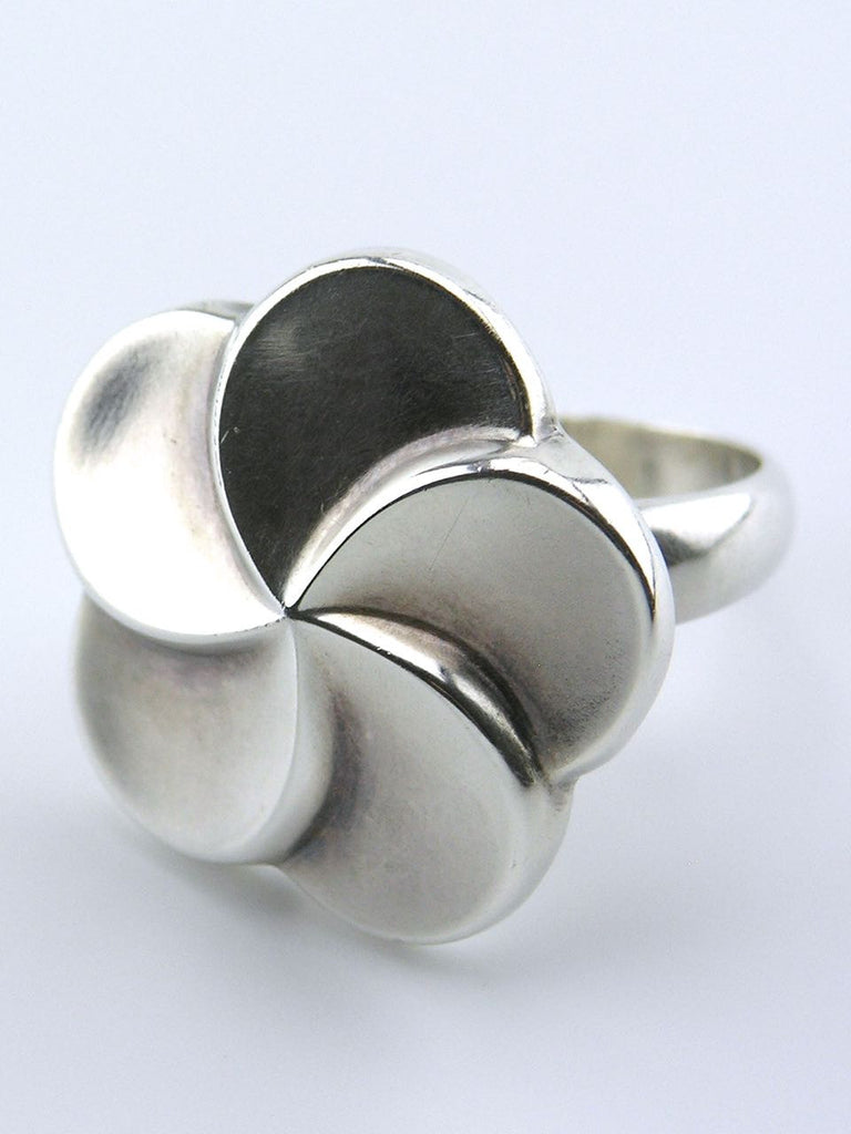 Georg Jensen silver modernist daisy ring - design 185