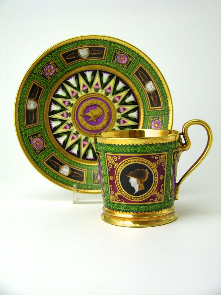 Antique Empire Sèvres Cup and Saucer
