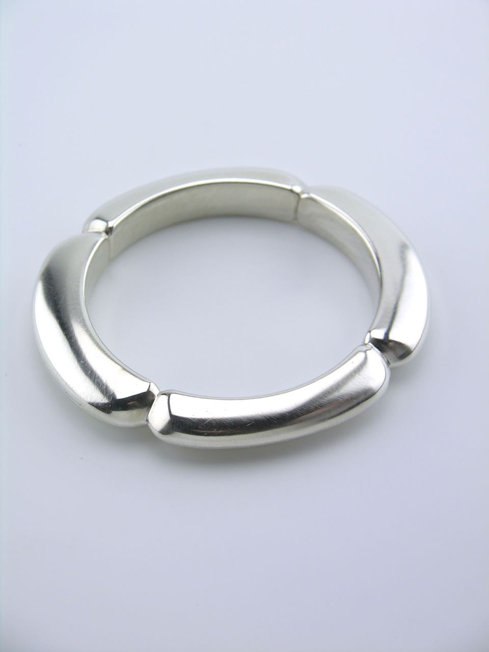 Georg Jensen solid silver modernist segmented bangle - design 253