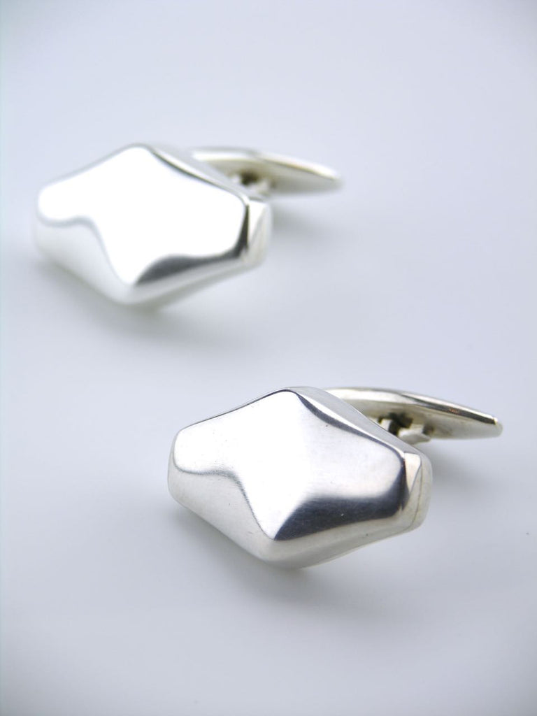 Vintage Georg Jensen Pair of Silver Lozenge Cufflinks - Design 250