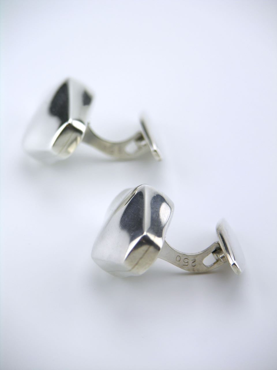 Georg Jensen pair of silver lozenge cufflinks - design 250