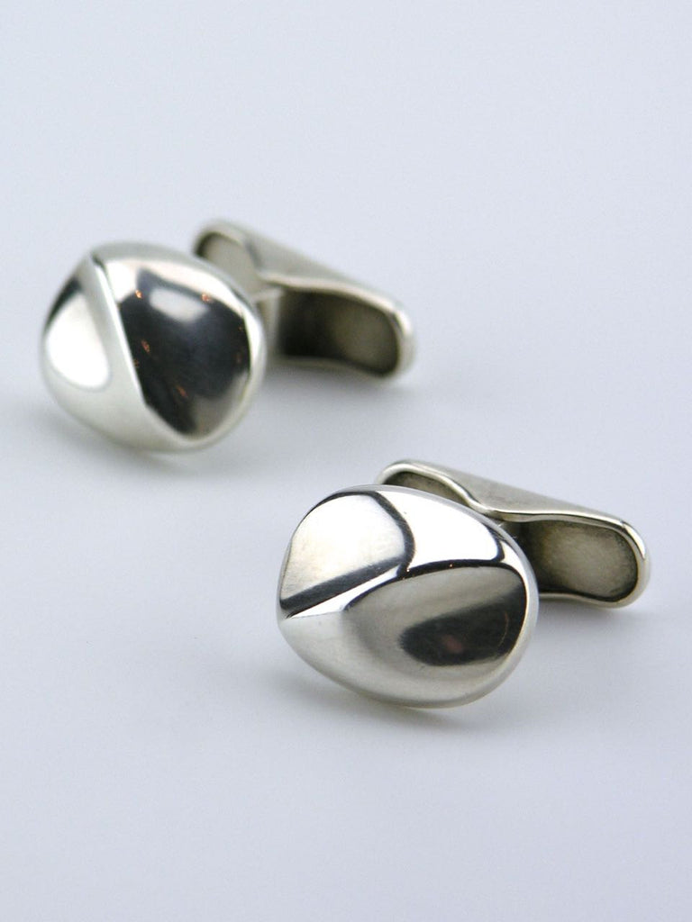 Georg Jensen silver cushion shape cufflinks