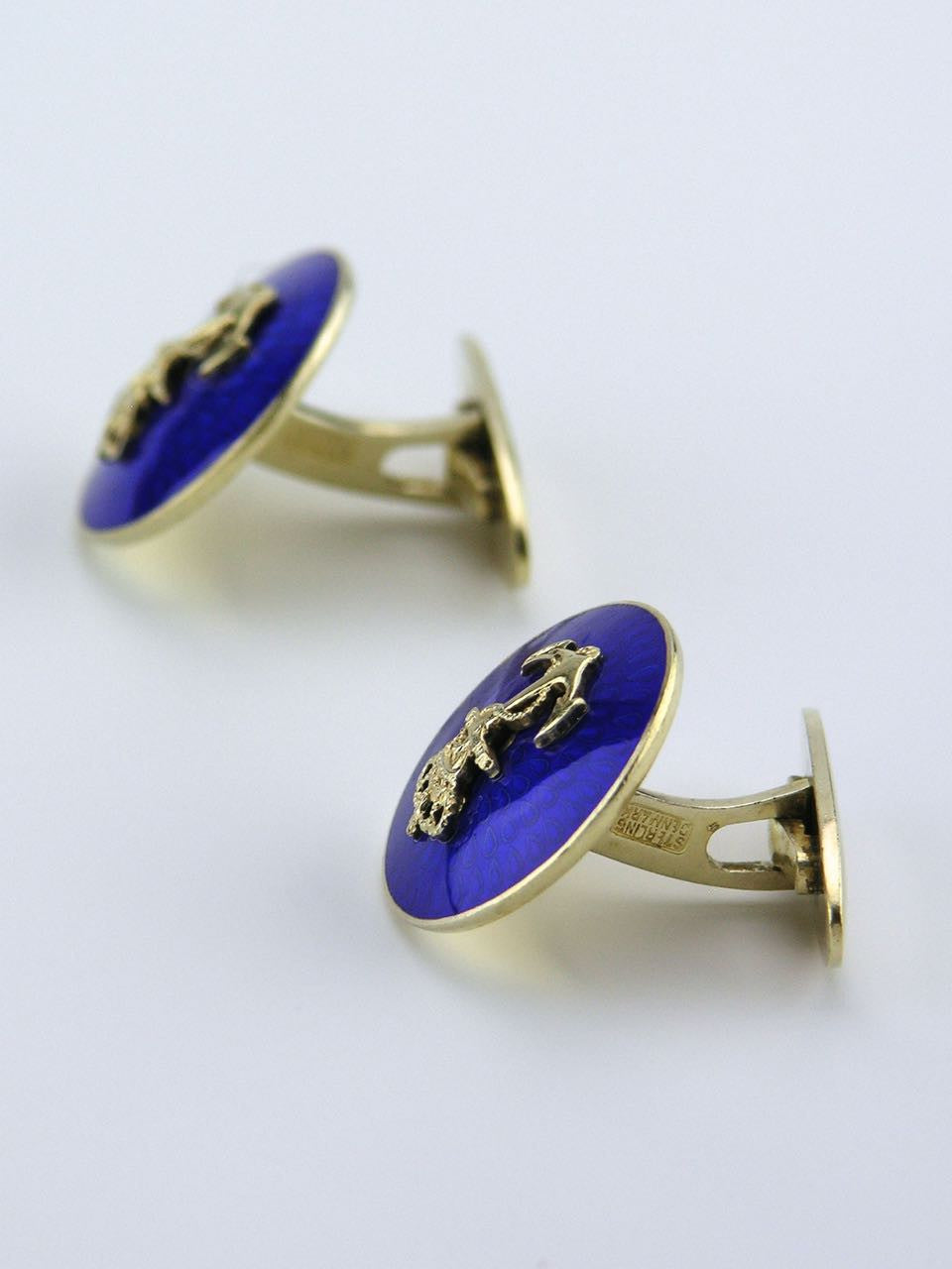 Anton Michelsen silver and enamel nautical motif cufflinks