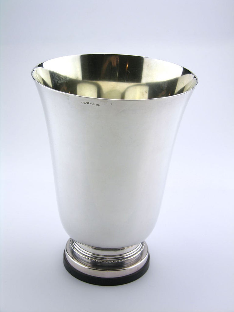 Swedish Art Deco solid silver and bakelite vase