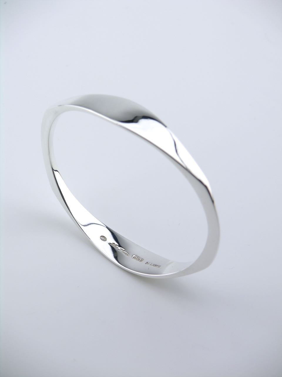 Georg Jensen silver oval shaped bangle