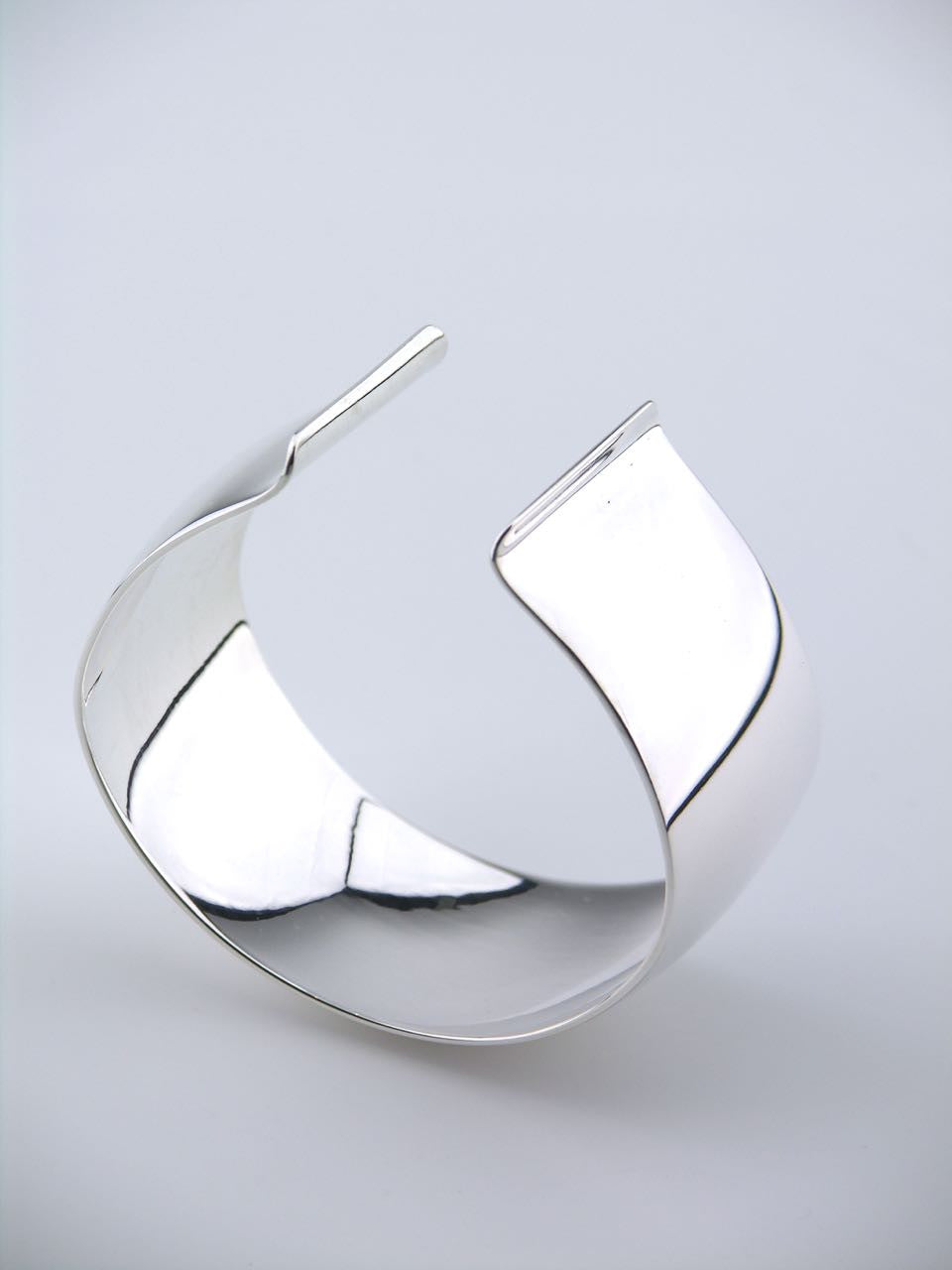 Danish Silver Wide Convex Cuff