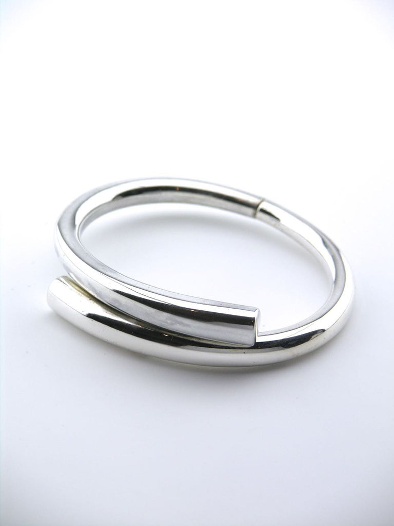 Aage Weimar Danish silver hinged bangle