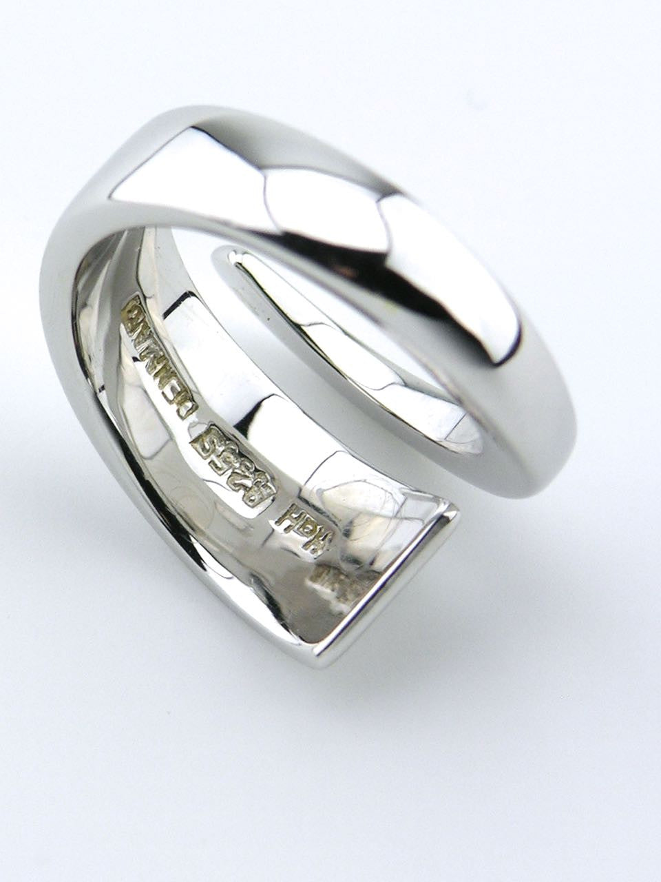 Hans Hansen silver tapered wrap ring