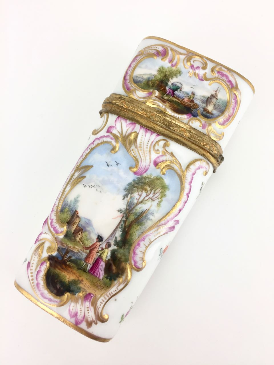 Antique 18th Century Continental Porcelain Etui
