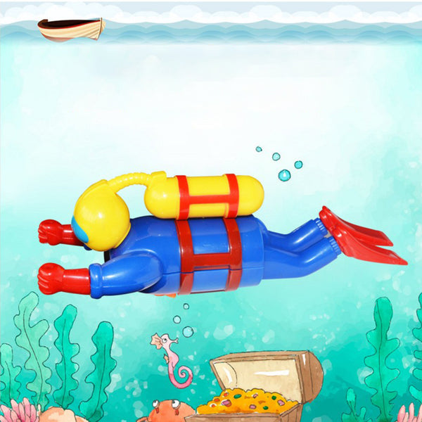 Baby Swimmers Scuba Water Diver Clockwork Wind Up Toy