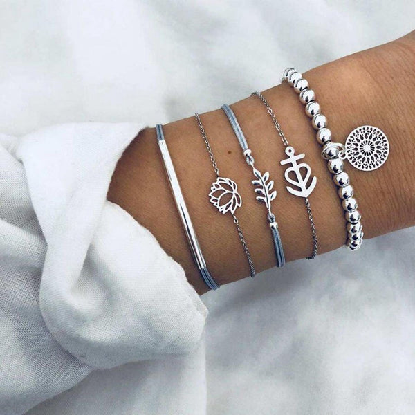 Alloy Casual Plain Bracelets