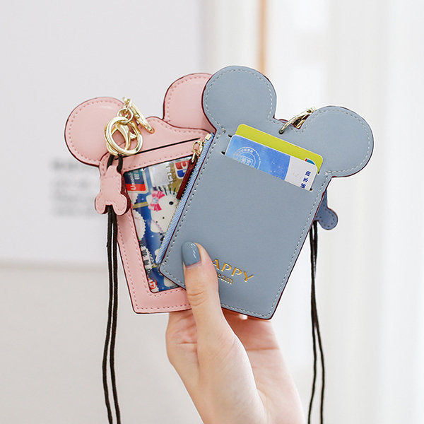 Travel Neck Pouch Cute Small Card Case Holder Coin Wallet Purse for Women