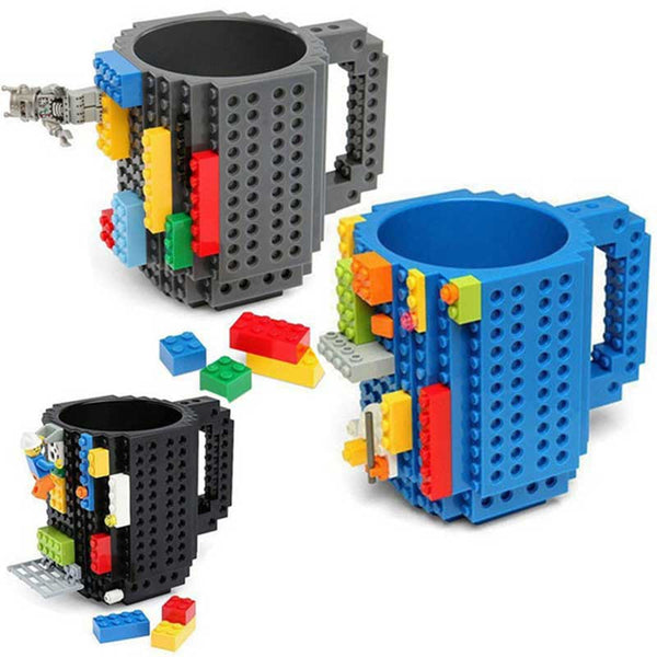 DIY Build-on Brick Mug Building Blocks Coffee Cup
