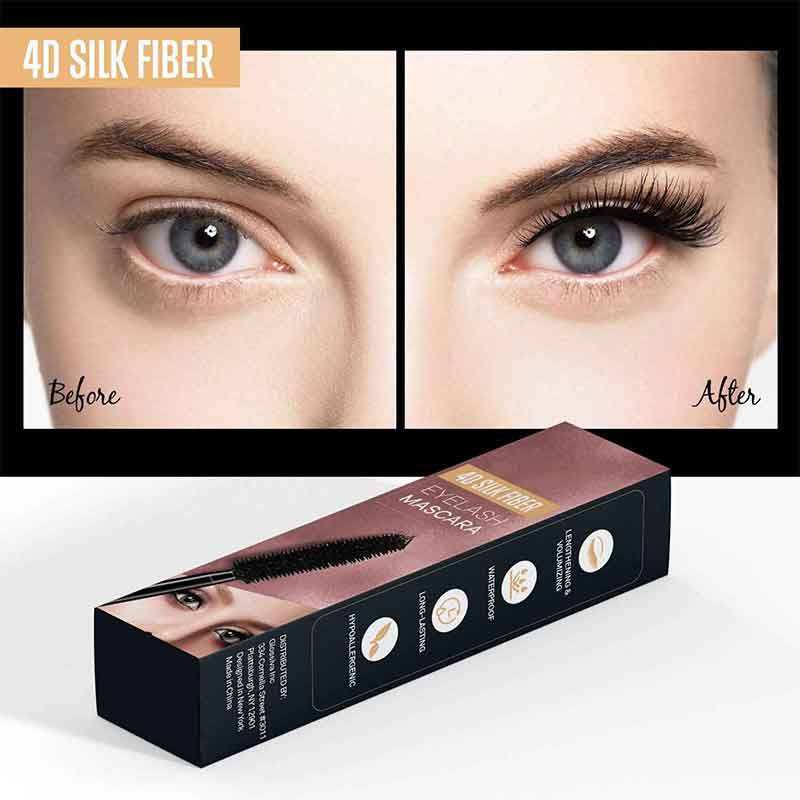 4D Silk Fiber Lash Mascara Waterproof Thick Smudge-Proof Eyelashes