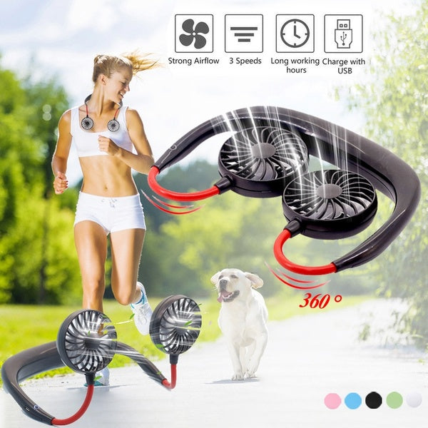 Lazy Hand-free Neckband Fan