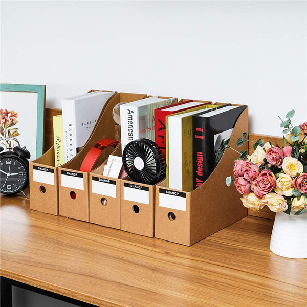 5pcs Files Magazine Rack Stationery Storage Box