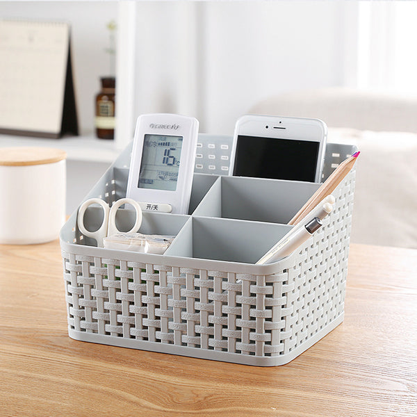 Cosmetic Mesh Desktop Organizer Makeup Storage 5 Sections