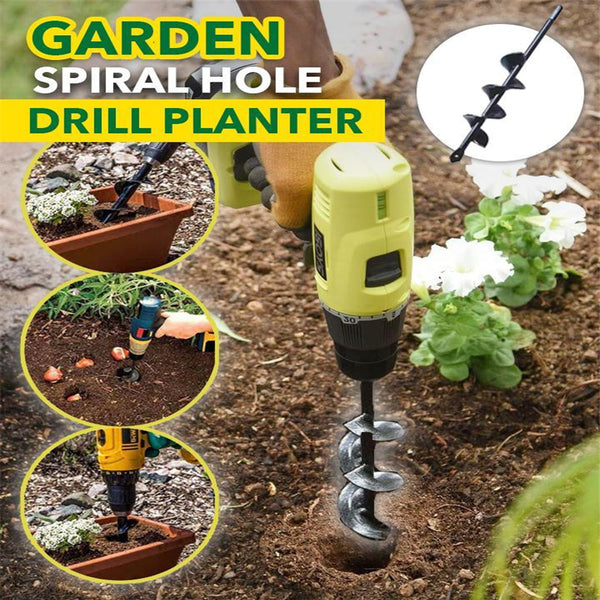 Courtyard Spiral Hole Drill Planter