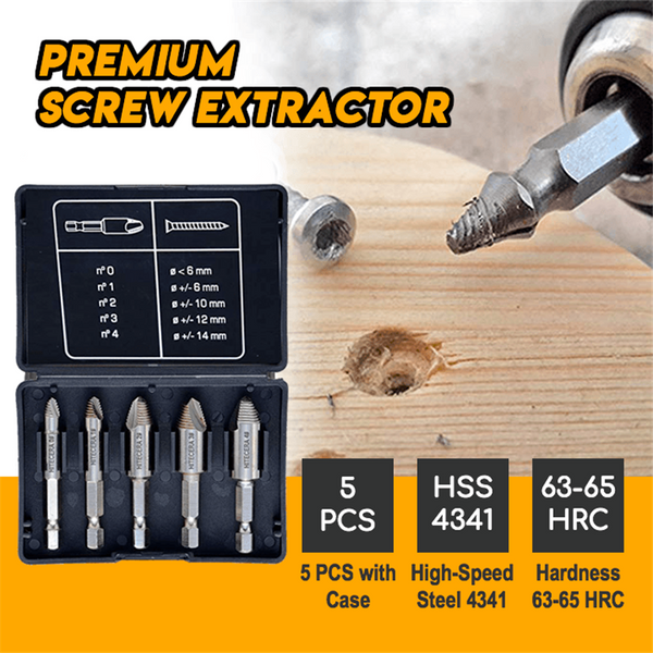 High-quality Screw Extractor Set of 5