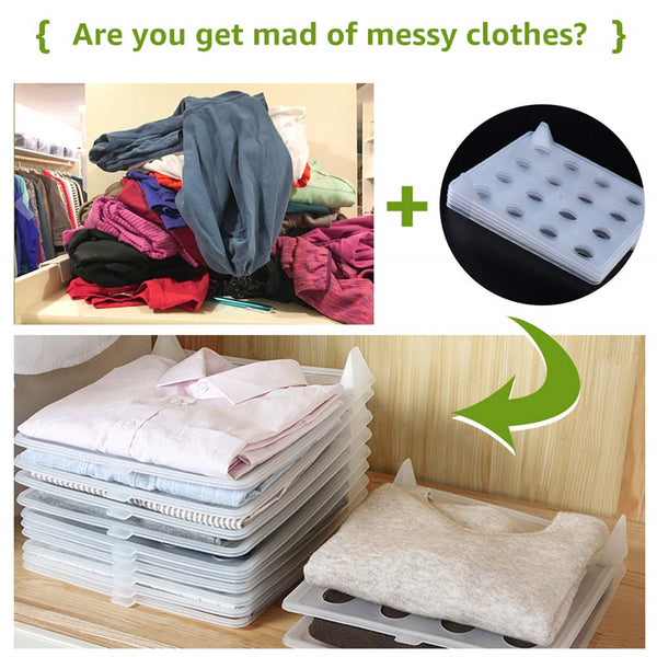 Easy Fold Clothes Storage Board  Set of 5