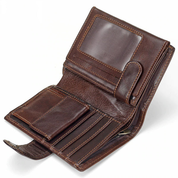 RFID Blocking Short Leather Wallet For Men