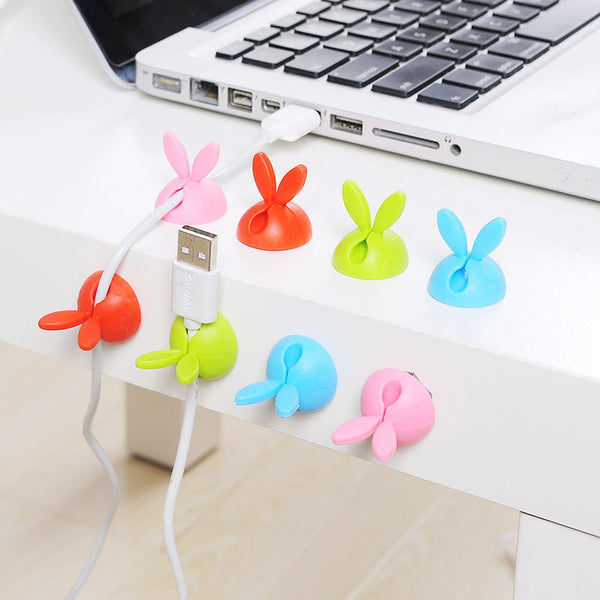 4pcs Rabbit Shaped Wire Organizer