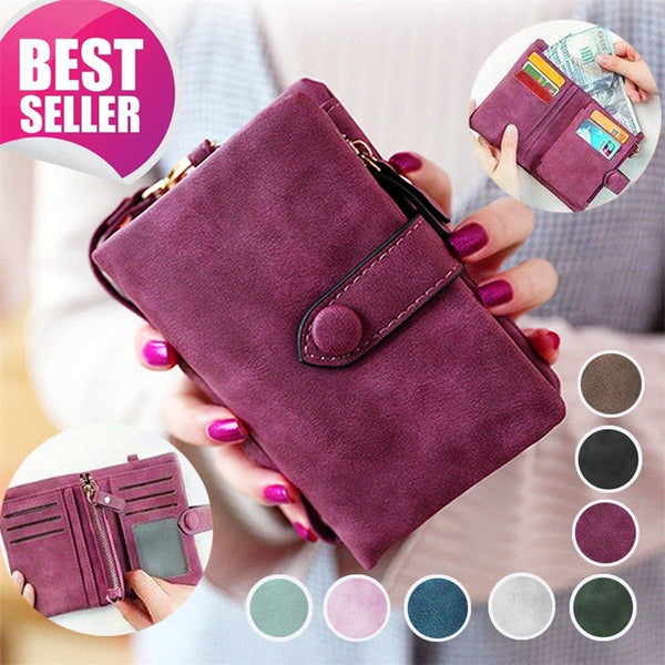 Women Trifold Wallet Credit Card Coin Purse