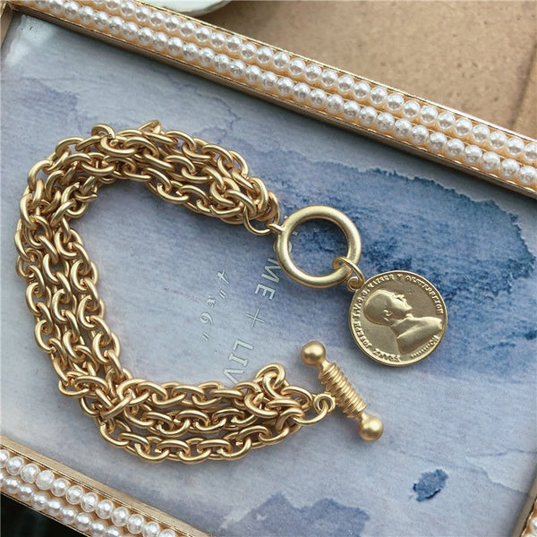 Golden Alloy Vintage Bracelets
