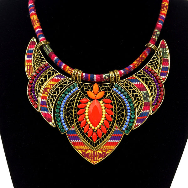Colorful Bohemian Collar necklace