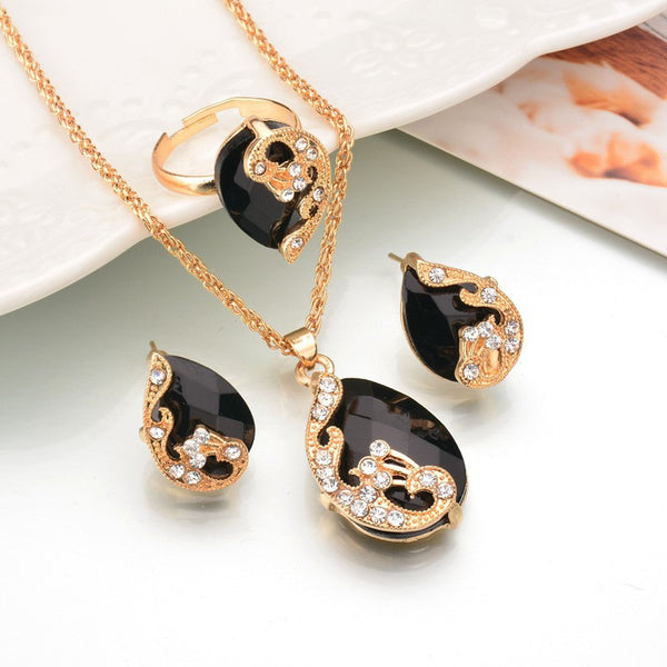 Charm Crystal Jewelry Sets