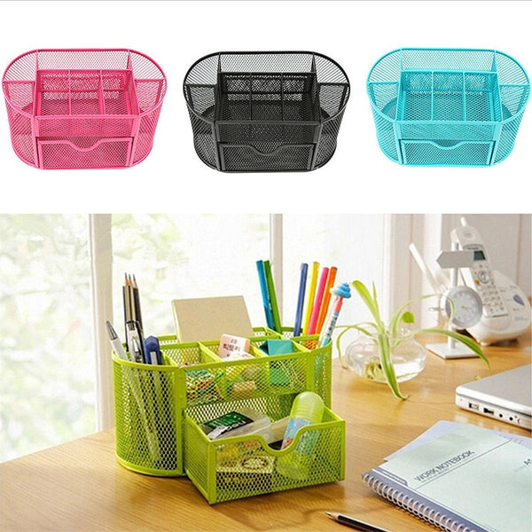 Mesh Desk Office File Organizer with Sliding Drawer