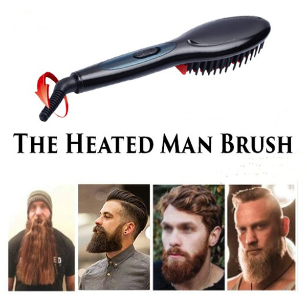 Electric Straight Hair Beard Comb