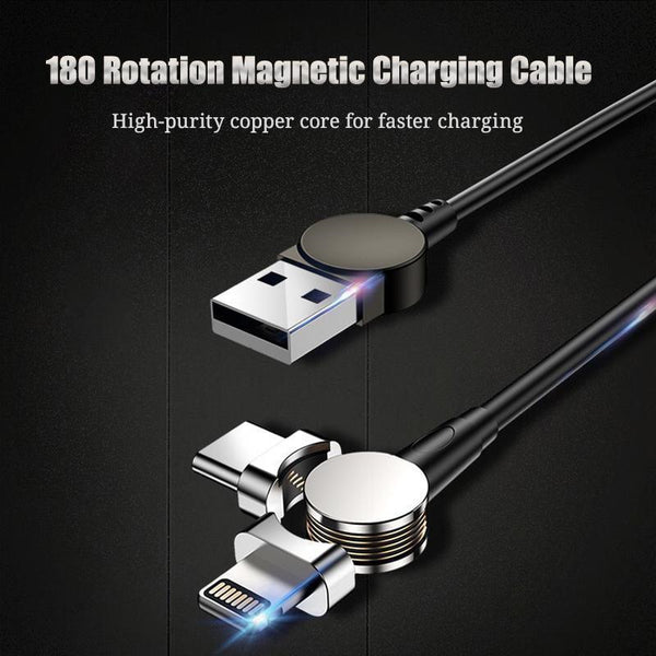 Super-Fast Magnetic Rotate Charging Cable
