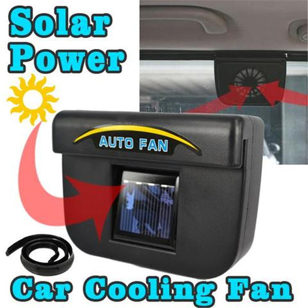 Solar-Powered Car Air Vent Cooling Fan
