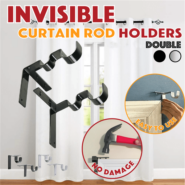Invisible Curtain Rod Brackets