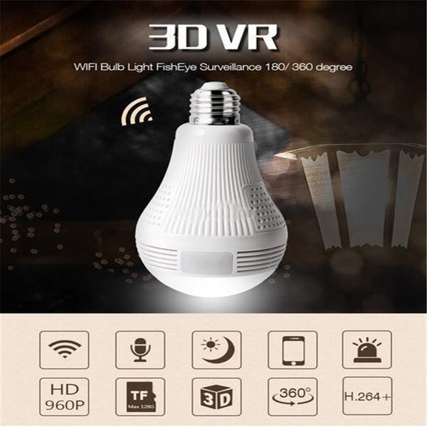 360-Degree Panoramic Hidden Light Bulb Camera