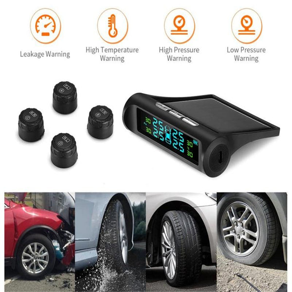 Solar Power Car Tire Pressure Monitoring System