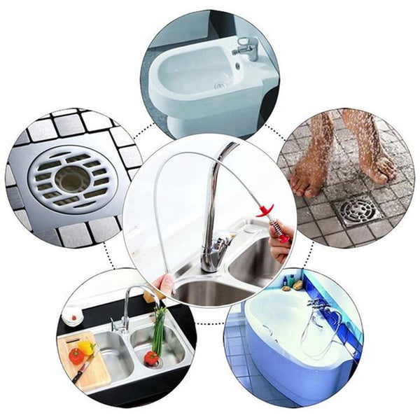 Bendable Sink Sewer Cleaning Hook
